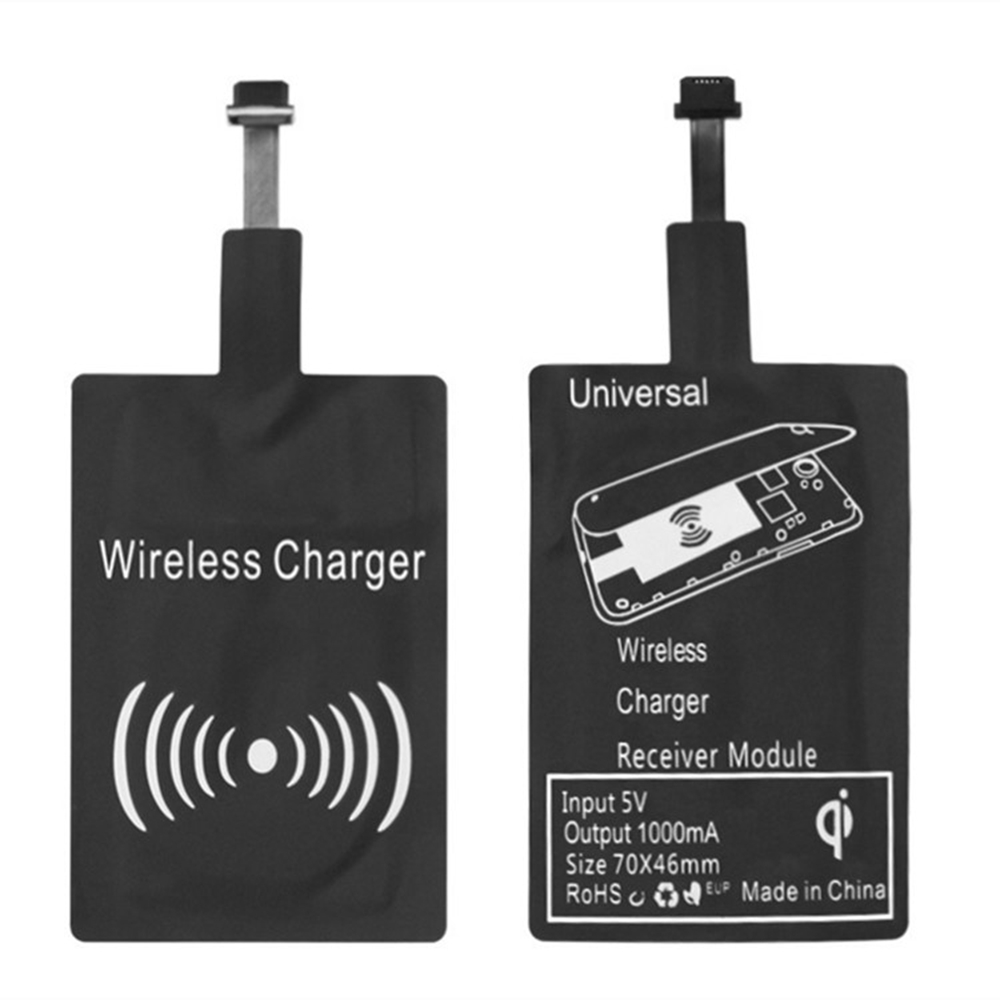 Amazon Top sales Qi Wireless Charger Receiver Compatible Qi Fast Charging Adapter Receptor Receiver for IPhone 5 6 7